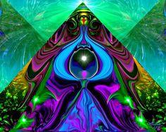 "Abstract Chakra Pyramind Angel Art Reiki Print """"The Portal"""""