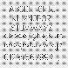Back stitch simple font