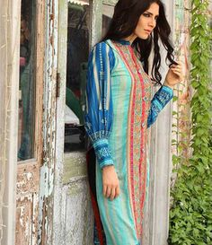 Kalyan embroidered kurtis summer collection 2015 ST-10B
