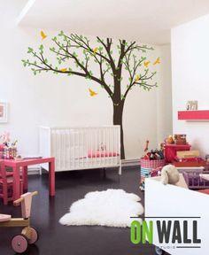 Tree Wall Decals Baby Room Decal Vinyl Wall Decal by ONWALLstudio