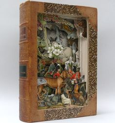 Ads by Google UK based artist Alexander Korzer Robinson carves out stunning storybook scenes from old books and encyclopedias. All images in the final work are seen from their unique place in the book. Alexander Korzer-Robinson creates his book art by cutting into pages, revealing several of the illustrations while removing others, but never adding … Continue reading Beautiful Book Art by Alexander Korzer Robinson