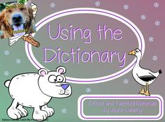 Dictionary Skills : Using the Dictionary for Promethean Board Use