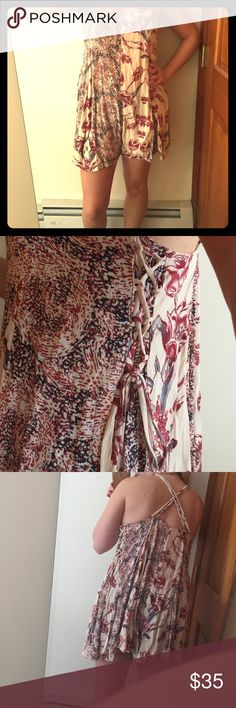 Free People Isabella Romper in Pink Tea NWOT The cutiest, most flowy romper you ever did see. Add a hat and some heels for a summer party vibe or just throw it over your bathing suit when you hit the beach! 🌞 Free People Dresses