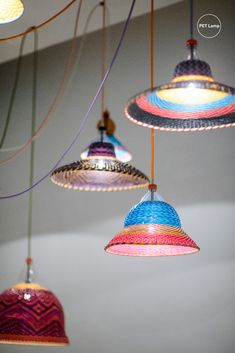 Visit our website to view our full collection of shades. Woven Pendant PET Lamp lights, illuminating a minimal scene, suspended from colourful fabric cables. Milan Furniture, Kitchen Installation, London Hotels, Lamp Sets, Hanging Lights, Pendant Lamp, Lamp Light, Minimal, Scene