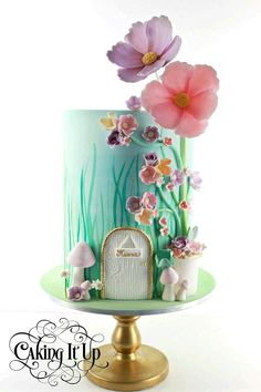 Cake Wrecks - Home - Sunday Sweets Makes Some Realistic Resolutions(Fairy Cake Ideas) Baby Cakes, Girl Cakes, Cupcake Cakes, Fairy Garden Cake, Garden Cakes, Fairy House Cake, Fairy Birthday Cake, Birthday Cake Girls, Garden Birthday