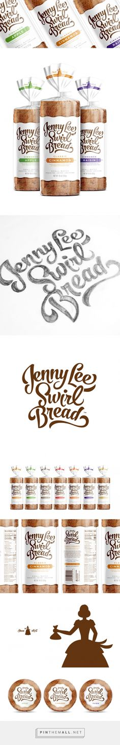 Jenny Lee Swirl Bread - Packaging of the World - Creative Package Design Gallery - http://www.packagingoftheworld.com/2017/01/jenny-lee-swirl-bread.html