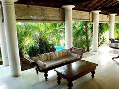 The veranda at the Colonial Surangana Villa in Sri Lankas
