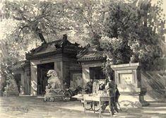 Pencil Sketch: Beijing's Hutong, Kuang Han's Pencil Sketch, China Artist, China Art