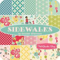 Sidewalks Fat Quarter Bundle October Afternoon for Riley Blake Designs - Fat Quarter Shop