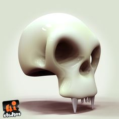 Toon Scull Free 3D Model