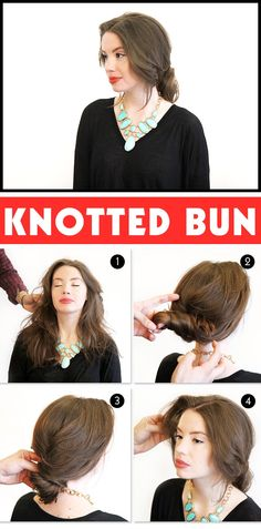 holiday hair idea: knotted bun