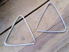 Triangle Hoops Sterling Silver Triangle Open Hoop Earrings