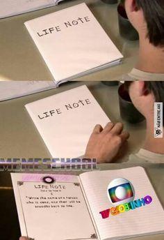 Escreveria em todas as páginas NECESSITO DESSE CADERNO