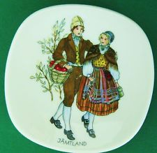 "Sweden Swedish Rorstrand 3"" Porcelain Jamtland Plate Scandinavian Scandinavia Sweden, Scandinavian, Decorative Plates, Porcelain, Costumes, Tableware, Ebay, Porcelain Ceramics, Dinnerware"