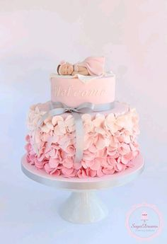 Pasteles hermosos para baby shower