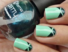 #mint #nailart #nails #polish #fingernails