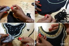 DIY: Chain bib necklace