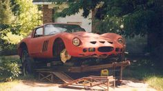 A Ferrari donated to a school auto shop, after its time racing, was later found in field abandon. Ferrari 250 Gto, Ferrari 2017, Ferrari Car, Nissan 300zx, Nissan Gt R, Stock Car, Automobile, Car Barn, Maserati