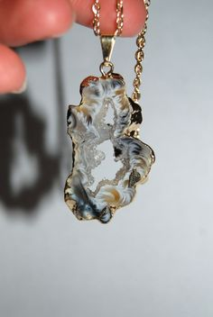 Geode necklace.