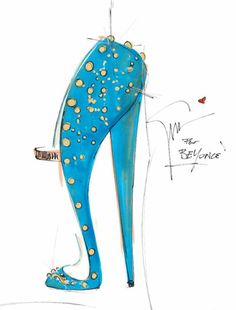 Giuseppe Zanotti Beyoncé Mrs Carter Show World Tour stage shoes Emilio Pucci costumes