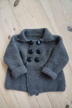 """""""Strik til din baby"""" - dobbeltradet jakke (Ms. Knitting For Kids, Baby Sweaters, Ms, Knit Crochet, Baby Kids, Coat, Jackets, Knits, Happy"""