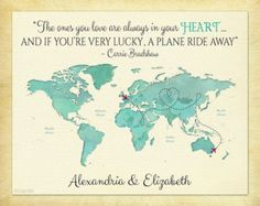 Long Distance Present for Friends Moving Away Gift by KeepsakeMaps