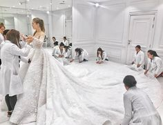 Victoria Swarovski at a fitting for her Michael Cinco-designed dress for her wedding to Werner Mürz, June Swarovski Wedding Dress, Dubai Wedding Dress, Wedding Dress Train, Wedding Dresses 2018, Sweetheart Wedding Dress, Bridal Dresses, Wedding Bride, Lace Wedding, Gown Wedding