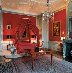 Luscious decorations in Museum van Loon's sleeping quarters @ Museum van Loon