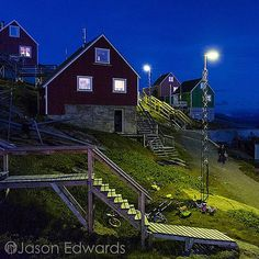 Photo @jasonedwardsng Saturday night on Kangaamiut a tiny settlement in western Greenland. No clubs bars restaurants or traffic congestion but a wonderful sense of community where people still communicate and enjoy each other's company. @jasonedwardsng