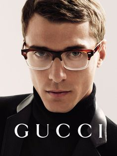 Clément Chabernaud fronts the Fall/Winter 2014 eyewear campaign of Gucci, photographed by Mert & Marcus.