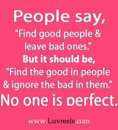 No one is perfect.