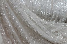 Overlapping Micro Sequin On Silk Chiffon - Iridescent Ivory Ella Enchanted, The Great Comet, Buy Fabric Online, Gray Aesthetic, All I Ever Wanted, Fabric Samples, Silk Chiffon, Making Ideas, Iridescent