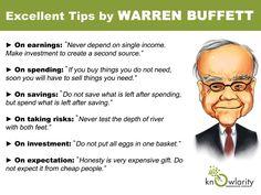 Financial wisdom from Warren Buffett. Financial discipline. #financequotes. Via Linked In, posted by Rajat Verma.
