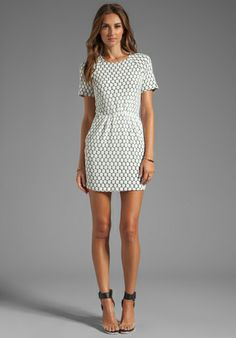 DV by DOLCE VITA Ritsa Dot Zebra Lace Dress in White Dot at Revolve Clothing - Free Shipping!