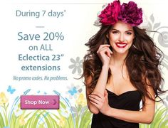 "A few days left to spring into savings with 20% off 23"" Eclectica extensions.   Shop now: http://www.socaporiginalusa.com/     #socap #sobehair #hair #extensions #hairextensions #love #beauty #classic #longhair #long #brunette #blonde #black #edgy #gorgeous #women #style #trend #hairandmakeup #stylist #haircut #fashion #highlights #blowdry #striaght #curly #wavy #bangs #ombre #inspiration #haircolor #color"