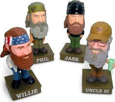 Talking Duck Dynasty Bobble Head Gift Set (Willie, Phil, Jase & Uncle Si) Funko Wacky Wobblers http://popvinyl.net #funko #funkopop #popvinyl