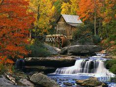 Glade Creek Grist Mill, by Robert Glusic
