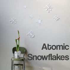 Atomic Snowflakes for swanky holiday decoration - get your martinis ready!