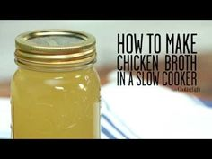 How to Make Chicken Broth in a Slow Cooker | Cooking Light - YouTube