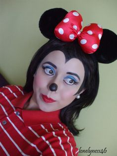Mouse Face Painting | Posted by lonelyness46 at 12:08 AM Halloween Scene, Halloween Dress, Halloween Makeup, Halloween 2015, Halloween Stuff, Halloween Costumes, Mickey Mouse Face Painting, Mouse Make Up, Minnie Mouse Halloween