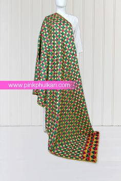 PinkPhulkari California Phulkari Vintage Hand Embroidered Bagh Phulkari Dupatta. To shop Visit our website www.pinkphulkari.com Images copyrights@PinkPhulkari California All rights reserved. Indian Wear, California, Summer Dresses, Website, How To Wear, Shopping, Vintage, Fashion, Moda