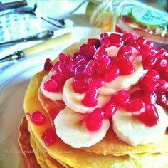 In Cucina con Mamma Agnese: Pancakes alla frutta e sciroppo d'Acero - ricetta 😍