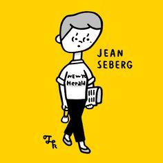 """JEAN SEBERG (in """"BREATHLESS"""")"""