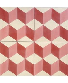 Geometric Red Encaustic Cement Tile by TERRAZZO-TILES. http://www.terrazzo-tiles.co.uk/geometric-red-encaustic-tile.html