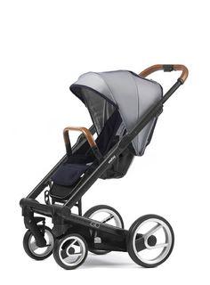 Mutsy Igo Urban Nomad Stroller - White and Blue with Black Frame