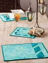 Summer party placemats and centerpiece