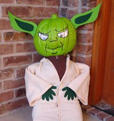 Enjoy the sage presence of a Jedi master with this fun Yoda Pumpkin DIY from Mama Bear Bedtime Books.