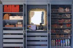 Little Green Notebook - closets - Benjamin Moore - Knoxville Gray - Ikea Pax Wardrobe, Ikea Bergsbo Door, Komplement Shoe Organizer, Omsorg ...