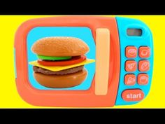 Microwave Just Like Home Toy Appliances Surprise Toys PEZ Candy Video for Kids EggVideos.com - YouTube