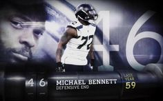 "Seattle Seahawks defensive lineman Michael Bennett is voted the 46th-best player in the NFL by his peers on ""Top 100 Players of 2017."""